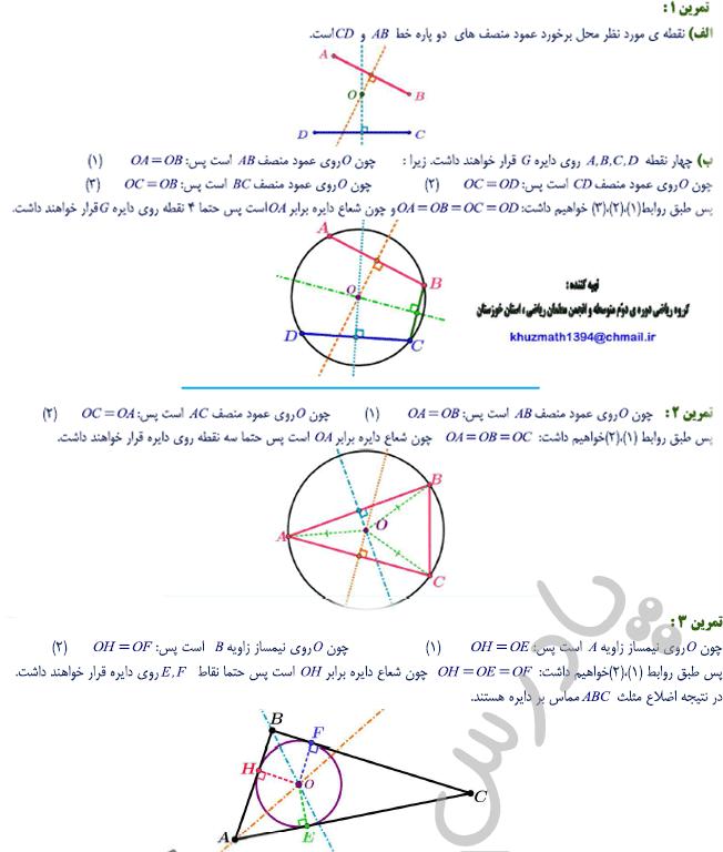 حل تمرین صفحه 29 ریاضی یازدهم