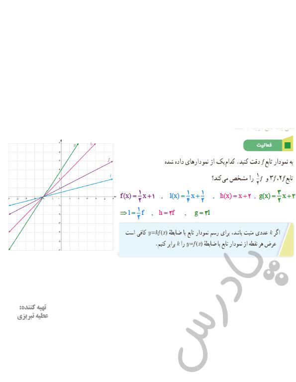 پاسخ فعالیت صفحه 68 فصل 3 ریاضی یازدهم