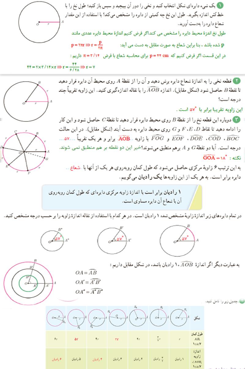 پاسخ فعالیت صفحه72 فصل4 ریاضی یازدهم