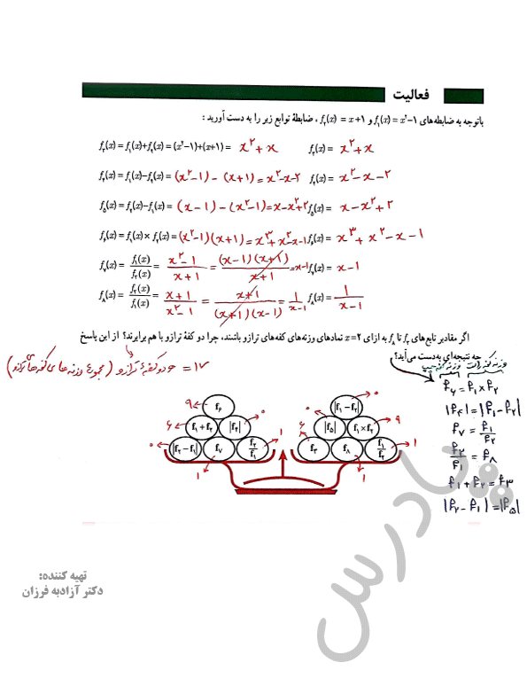 پاسخ فعالیت صفحه 49 ریاضی یازدهم انسانی