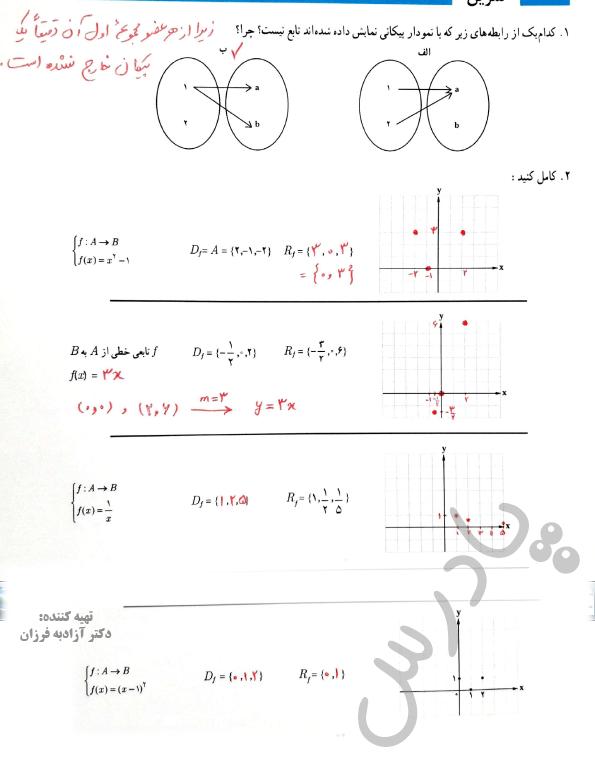 حل تمرین صفحه 24 ریاضی یازدهم انسانی