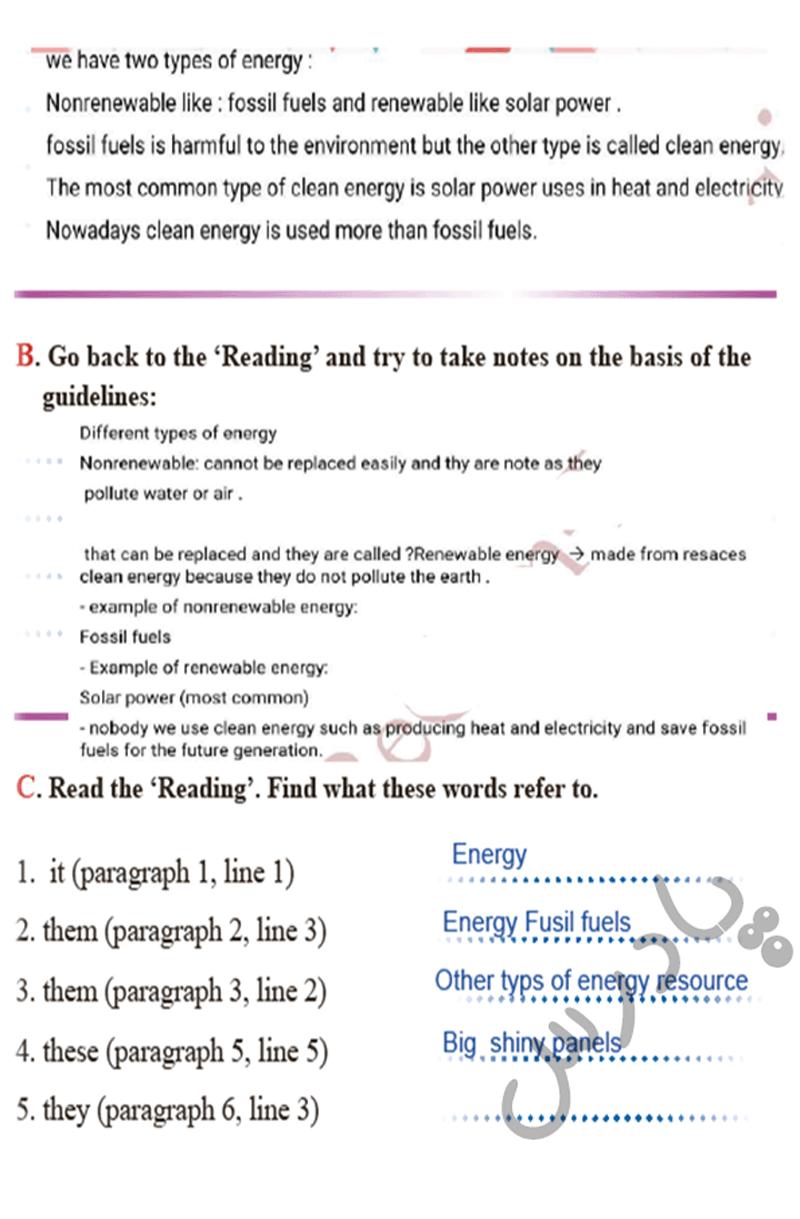حل تمرین صفحه 82 زبان انگلیسی دوازدهم