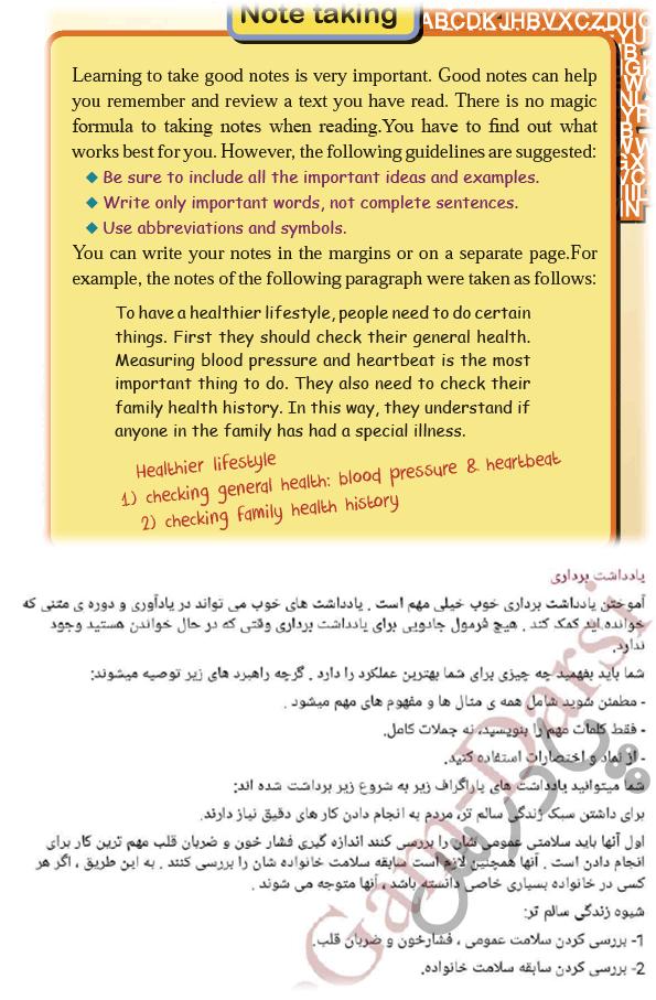 ترجمه Reading Strategy  درس3 زبان دوازدهم
