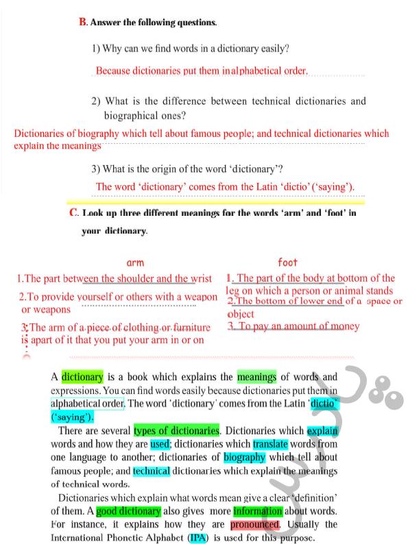 حل تمرینات بخش ریدینگ درس دوم کتاب کار زبان دوازدهم
