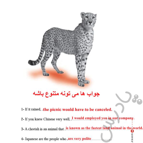 ادامه حل تمرین بخش گرامر درس دوم کتاب کار زبان دوازدهم