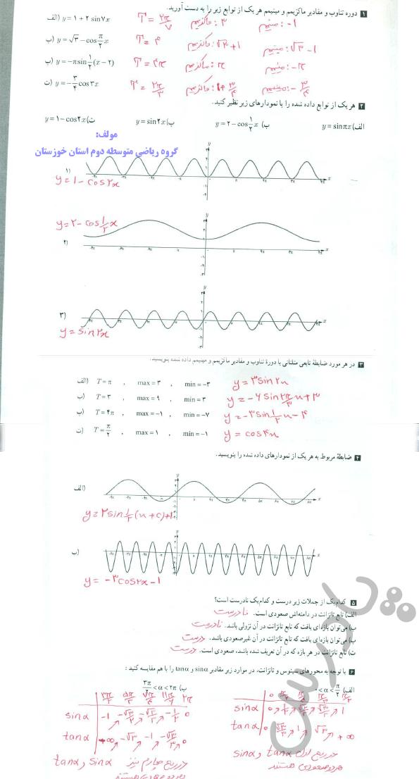 حل تمرین صفحه 33 حسابان دوازدهم
