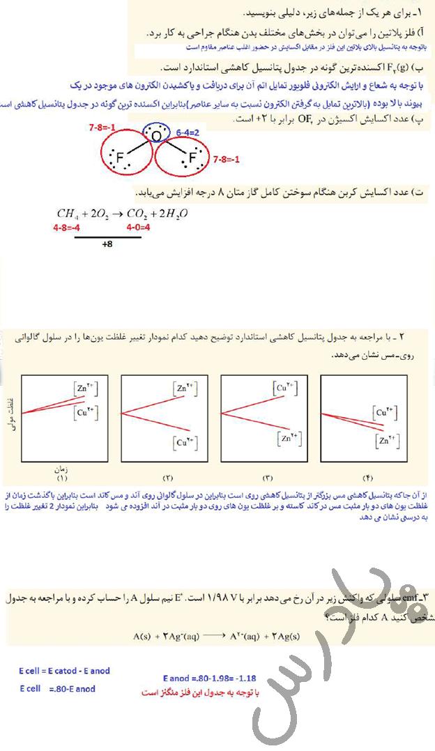 حل تمرین دوره ای فصل دوم شیمی دوازدهم