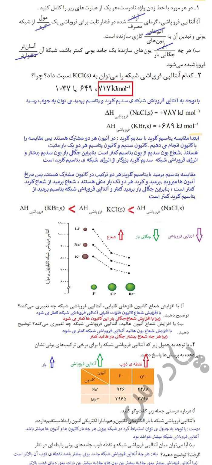 پاسخ خودرابیازمایید صفحه 80 شیمی دوازدهم
