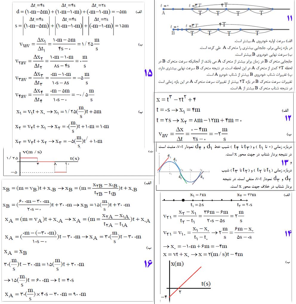 حل تمرین 11تا16 آخر فصل فیزیک دوازدهم ریاضی
