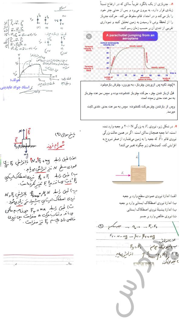 حل مسائل 8و9 فصل دوم فیزیک دوازدهم