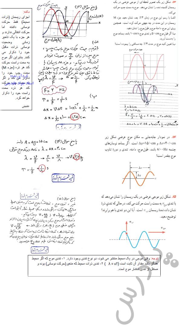 حل مسائل 13تا15 فصل سوم فیزیک دوازدهم تجربی