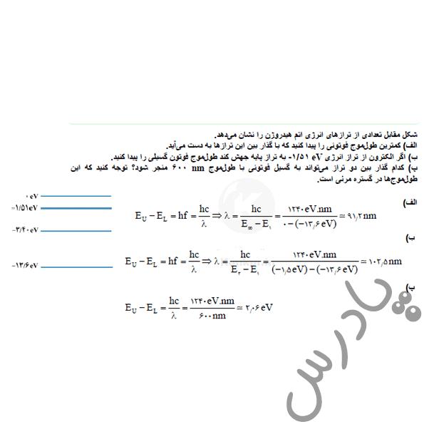 حل تمرین 3 فصل 4 فیزیک دوازدهم تجربی