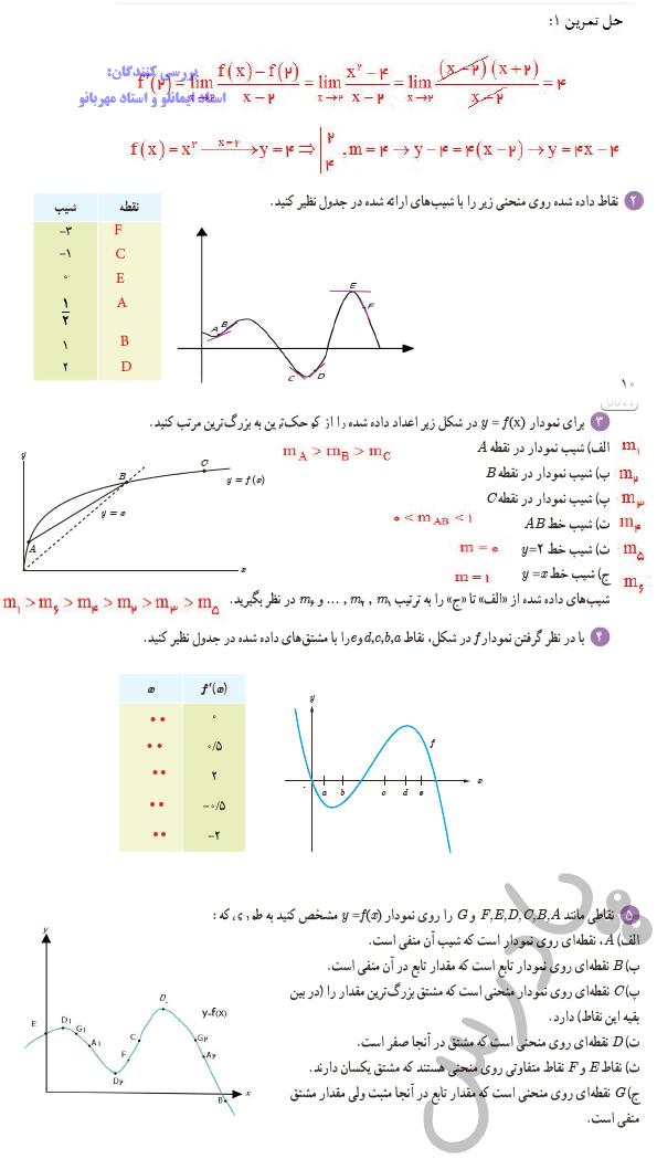 حل تمرین صفحه 75 ریاضی دوازدهم