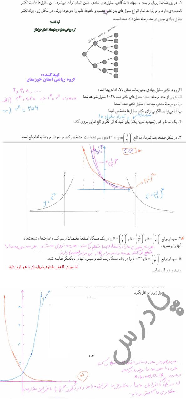 حل تمرین صفحه 102 ریاضی دوازدهم انسانی