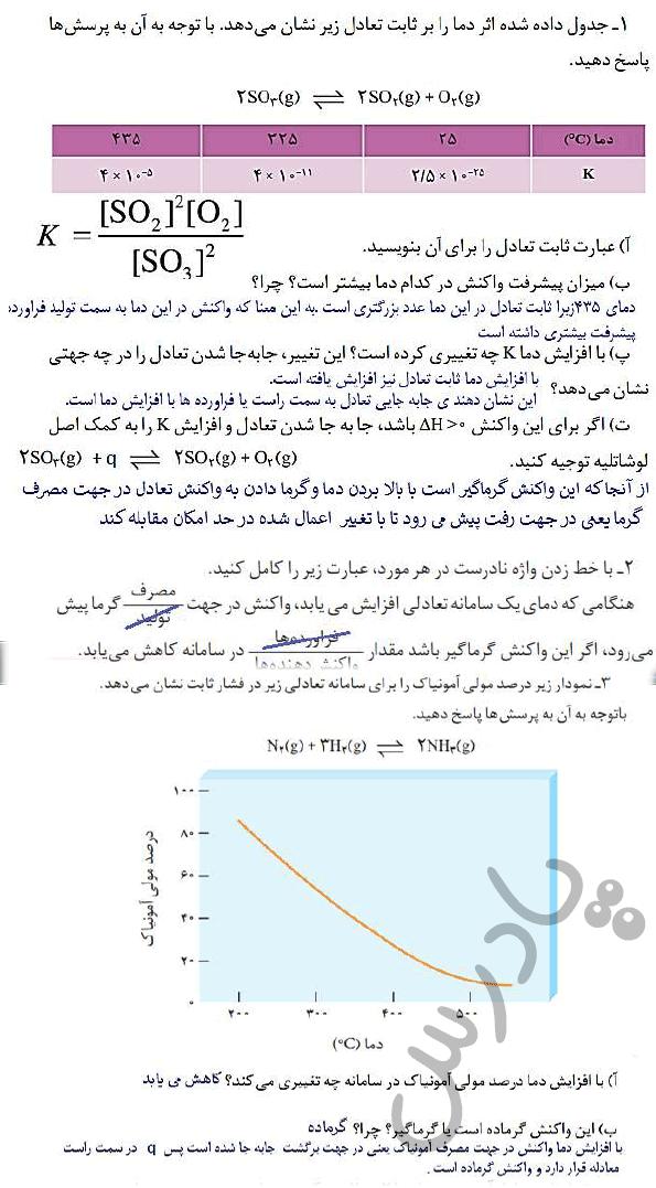 پاسخ با هم بیاندیشیم صفحه 106 شیمی دوازدهم
