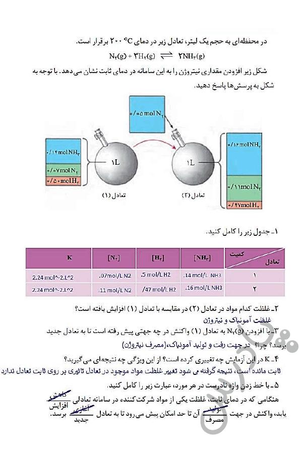 پاسخ با هم بیاندیشیم صفحه 102 شیمی دوازدهم