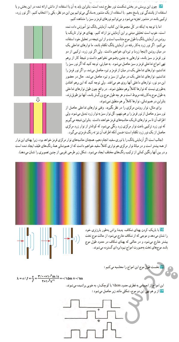 حل مسائل 14 تا17 آخر فصل فیزیک دوازدهم