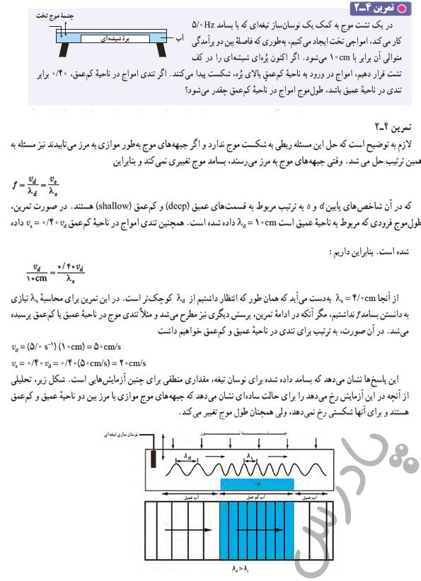 حل تمرین 2 فصل 4 فیزیک دوازدهم