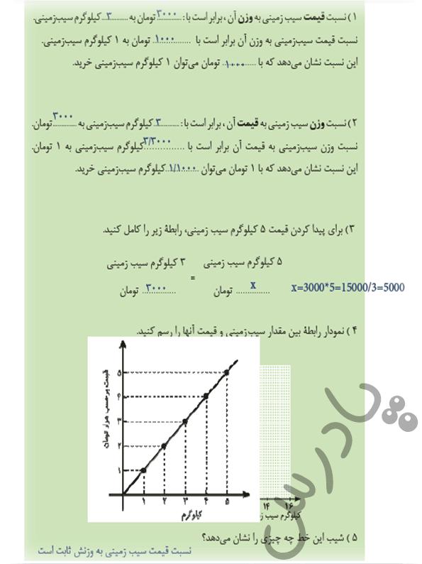 پاسخ فعالیت 2 ریاضی دهم فنی و حرفه ای