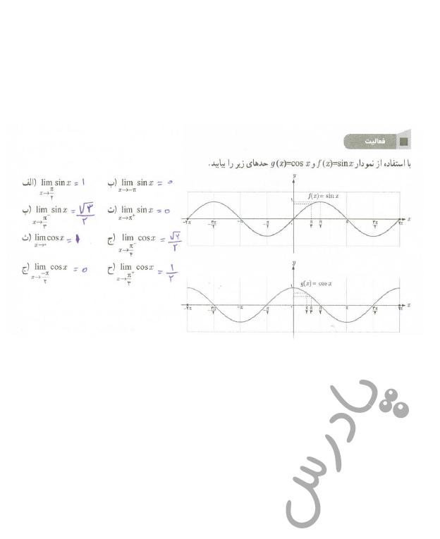 پاسخ فعالیت صفحه 134 ریاضی یازدهم