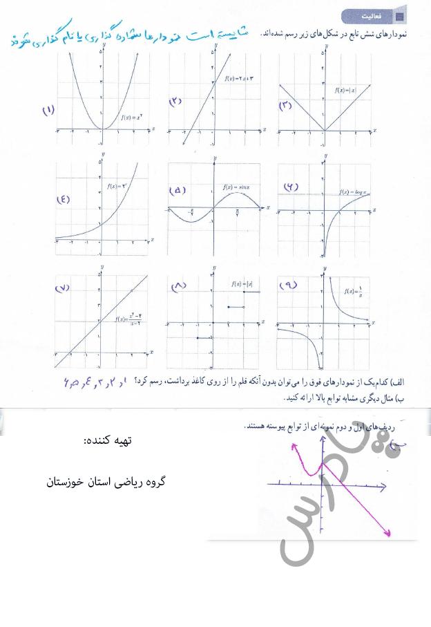 پاسخ فعالیت صفحه 137 ریاضی یازدهم
