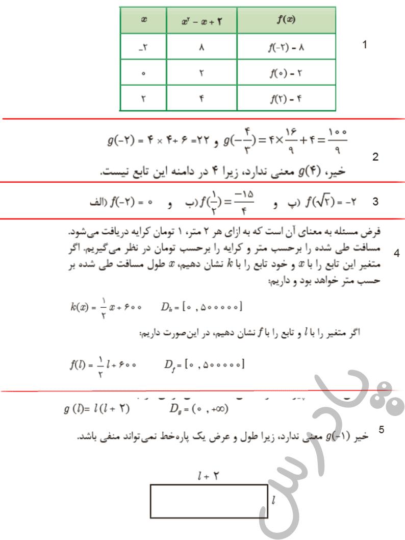 حل مسائل صفحه 25 ریاضی یازدهم فنی