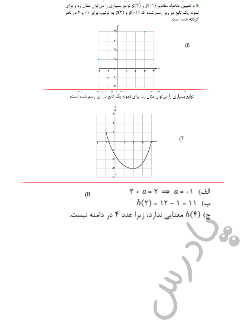 ادامه حل مسائل صفحه 30 ریاضی یازدهم فنی