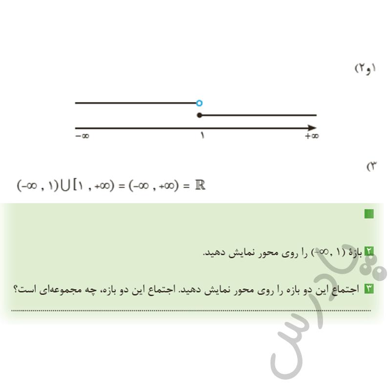 جواب کاردرکلاس صفحه 20 ریاضی یازدهم فنی