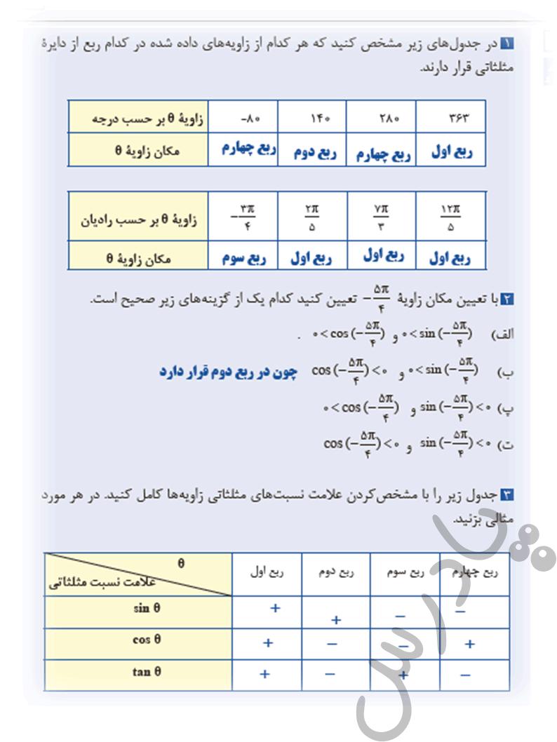 حل مسائل صفحه 86 ریاضی یازدهم فنی