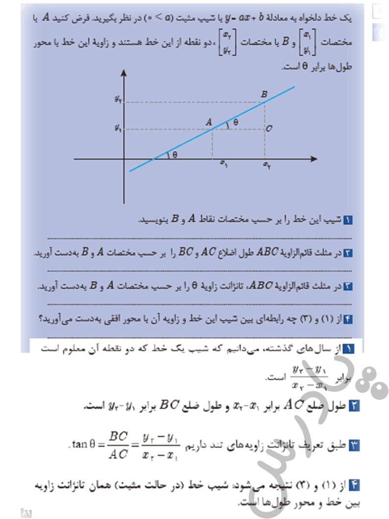 پاسخ فعالیت صفحه 89 ریاضی یازدهم فنی