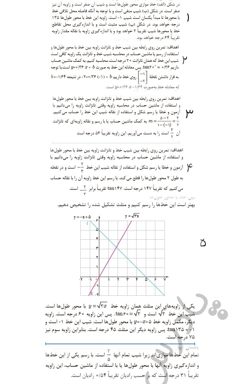 حل مسائل آخر پودمان ریاضی یازدهم فنی و حرفه ای