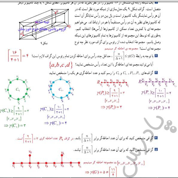 جواب کاردرکلاس صفحه 49 ریاضی گسسته دوازدهم