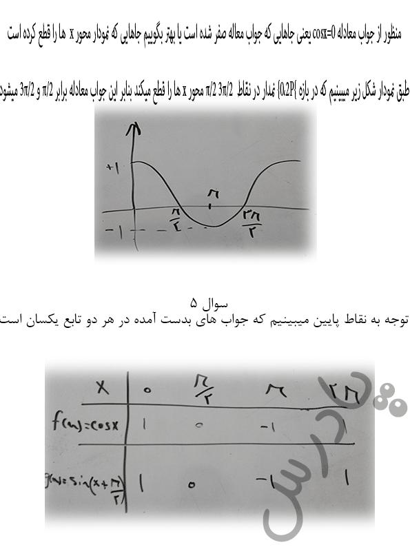 ادامه حل مسائل صفحه 23 ریاضی دوازدهم فنی