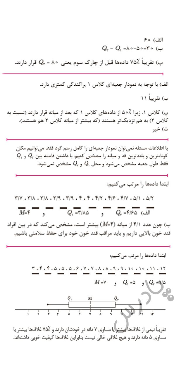ادامه حل مسائل صفحه 145 پودمان 5 ریاضی یازدهم هنرستان