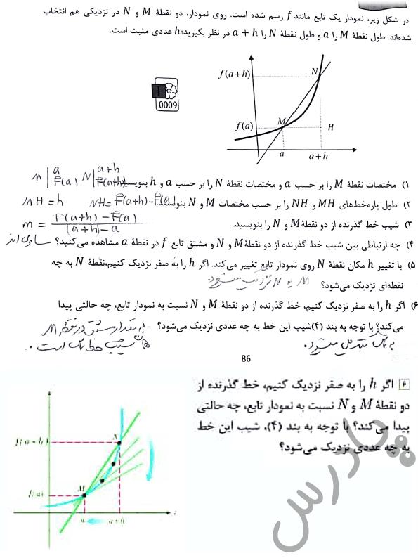 پاسخ فعالیت صفحه 106 ریاضی دوازدهم هنرستان