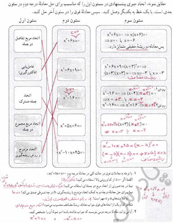 پاسخ فعالیت صفحه 20 ریاضی و آمار دهم