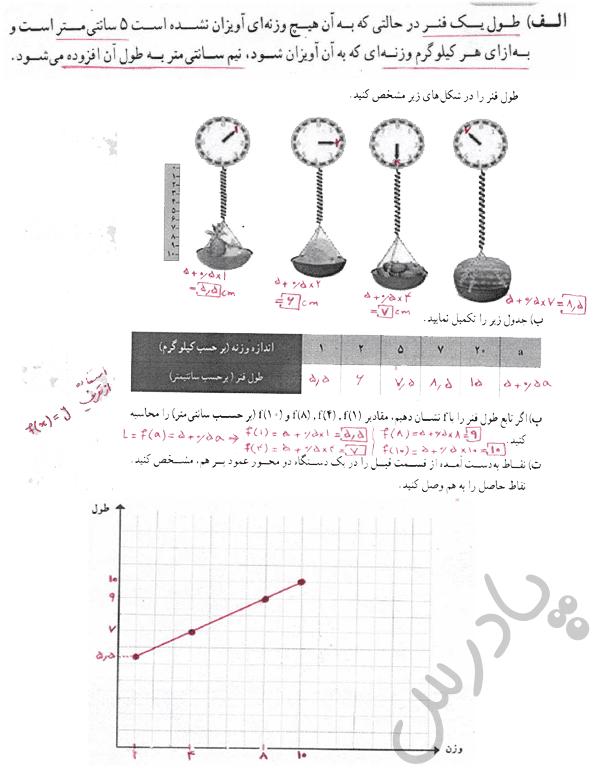 پاسخ فعالیت صفحه 56 ریاضی دهم انسانی